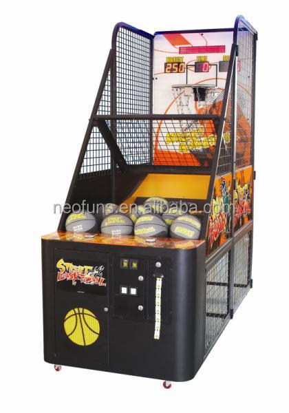 Promotion !!! Redemption machine type street basketball game machine for sale,coin operated basketball shooting game machine