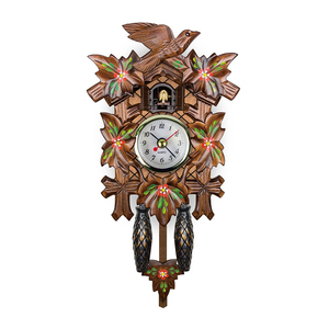 2019 newly design Wholesales autoswinging pendulum Cuckoo Clocks 3d Wooden puzzle decorative Wall clock
