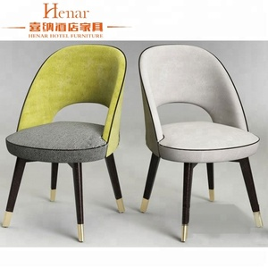 modern black and gold velvet dining chair for restaurant