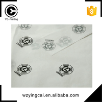 China manufacturer customized black logo printed white gift packaging tissue silk wrapping paper