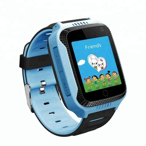 Most popular touch screen sos calling gps tracker kids smart phone watch with front camera