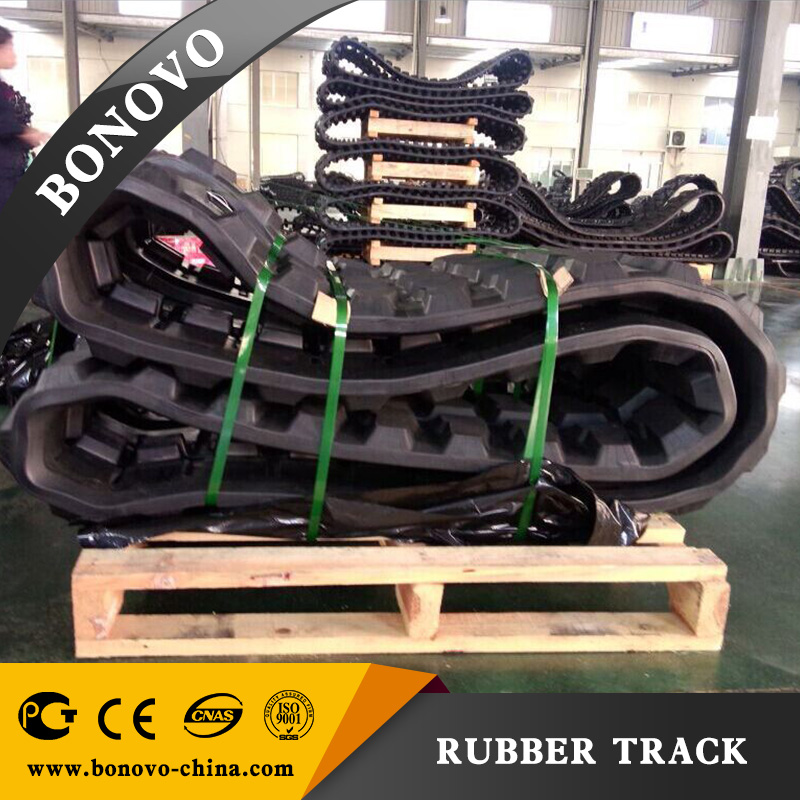 KOBELCO SK007 rubber track for excavator, rubber pad, excavator rubber track made of natural rubber for engineer/agriculture