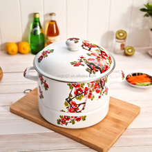 Eco-friendly Round Enameled Steel Steamer&Chinese style Pot