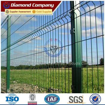 Nigeria Market Green Vinyl Coated Welded Wire Mesh Fence Panel - Buy ...