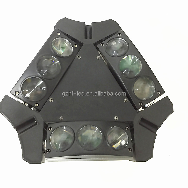 Professional Newest Mini 9 Heads 4IN1RGBW LED Spider Moving Head Light For DJ Lighting