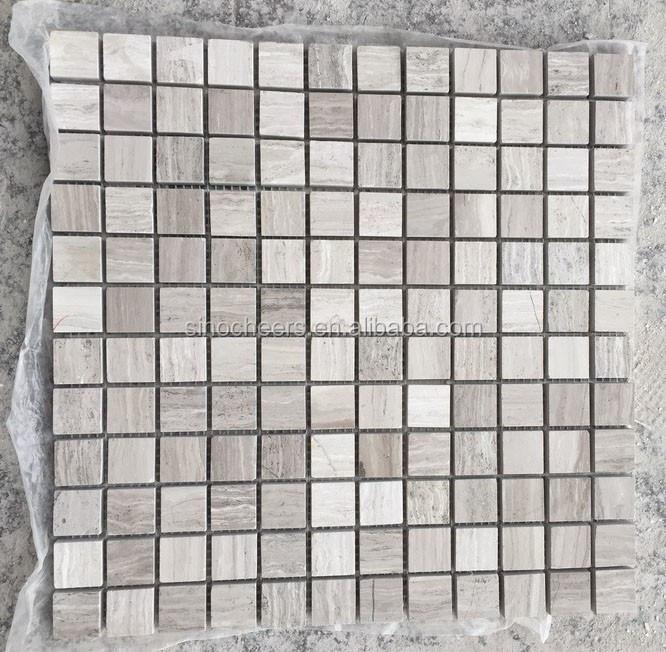 Houten vierkante moza ek 23x23mm grijs marmer tegels voor badkamer moza eken product id - Badkamer mozaiek grijs ...