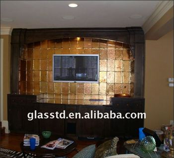 Golden Glass Partition For Living Room As Background Wall Part 95