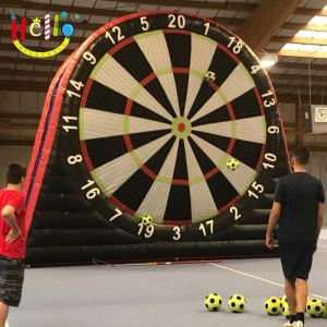 Blow Up Football Flechette Kick Dart Game, Giant Inflatable Foot Dart Board for Sale