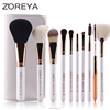 10 pcs hot japanese style rose gold makeup brush set
