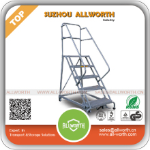 5 Steps Movable Safety Ladder with Handrails