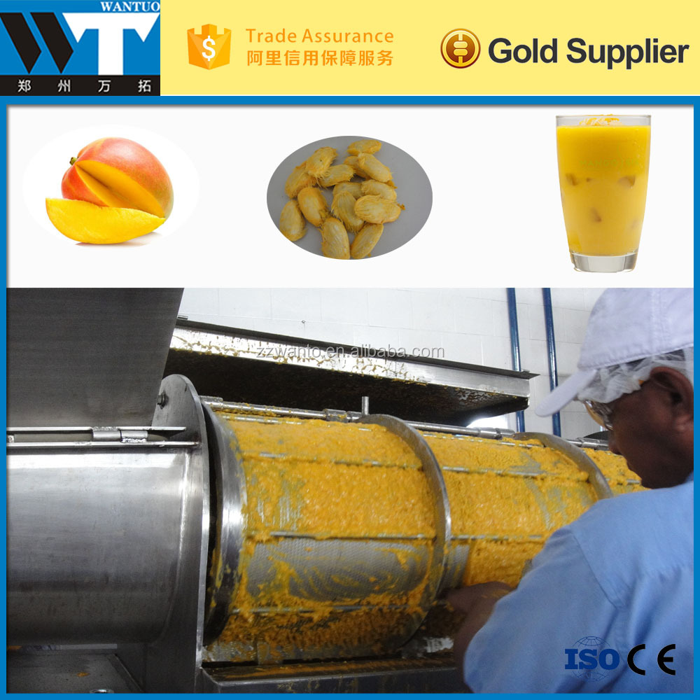 TOP quality stainless steel Mango peeling pulping machine for sale
