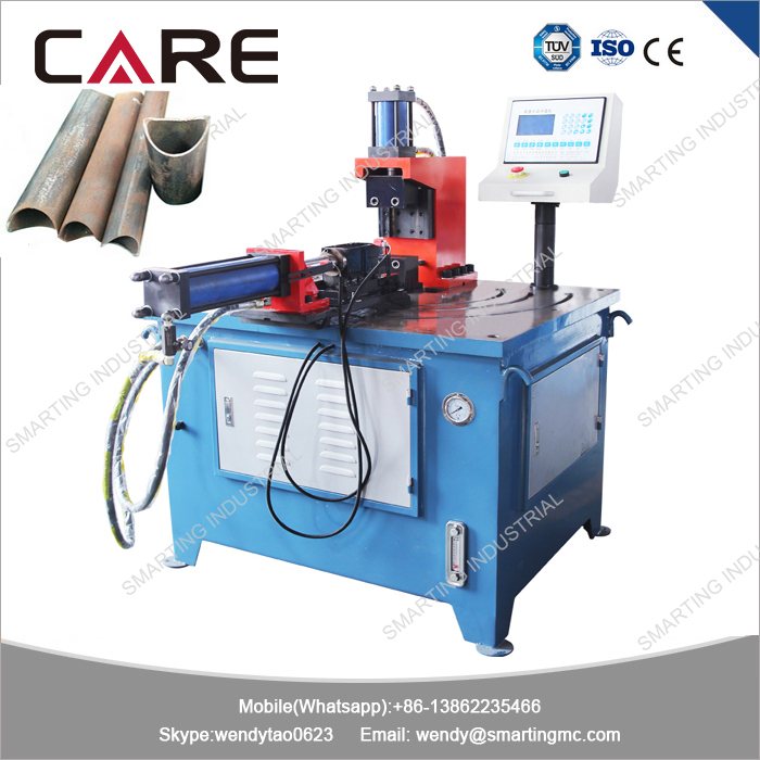 Automatic stainless steel pipe and tube notcher machine