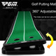 Adjustable Hole And Slope Track Golf Putting Mat