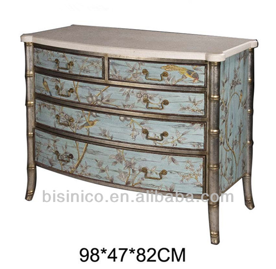 Exquisite Hand Painted Chest Of Drawers,Graceful Wooden Side Cabinet With  Floral Painting,Antique Home Decorative Furniture   Buy Hand Painted  Storage ...