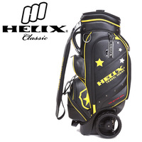 Helixpatent trolley bag /golf travel bag hard case / golf carry bag with shoes pocket with wheels