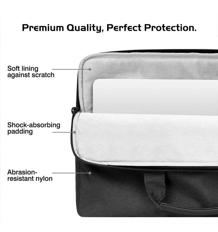 MoKo Online Shopping Laptop Nylon Sleeve with Hand & Shoulder Strap Brief Cover Case