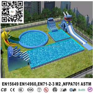 customized Inflatable water park aqua play equipment for sale EN15649