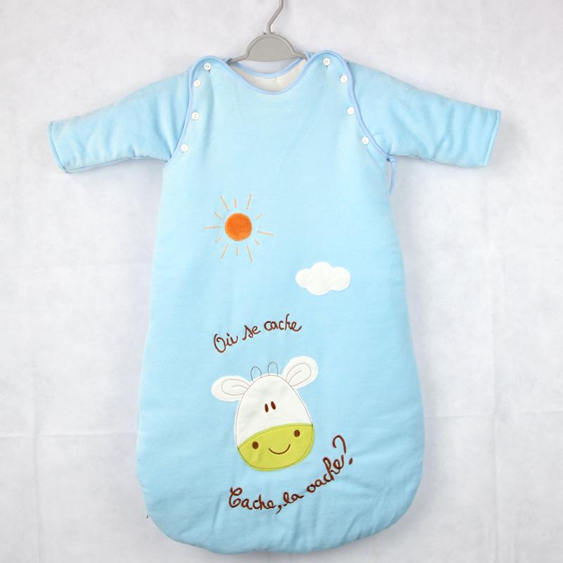 Знаки унисекс 100% зима хлопок младенцы сон мешок новорожденные дети анти-типи бархат утолщение