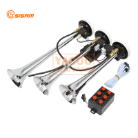 12v 3 Pipe Roots Trumpets Musical Truck Train Motorcycle Air Horn with Six Multi Tone
