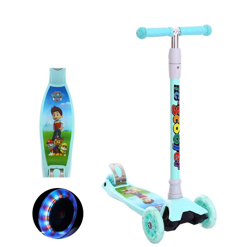 LOOTOO KID on sale blue plegable racing kick baby scooter for one year old boy