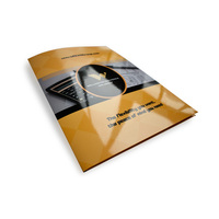 Zuoluo Full Color Two Pocket A4 Size File Folder with Custom Logo