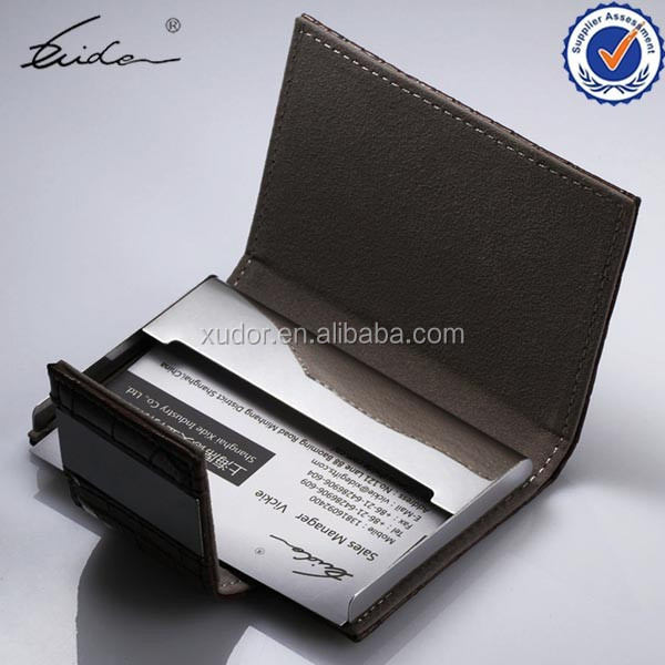 CHINESE SALE LEATHER OFFICE BLACK CREDIT CARD HOLDER CASE