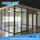 Office double glazed louver glass partition on sale