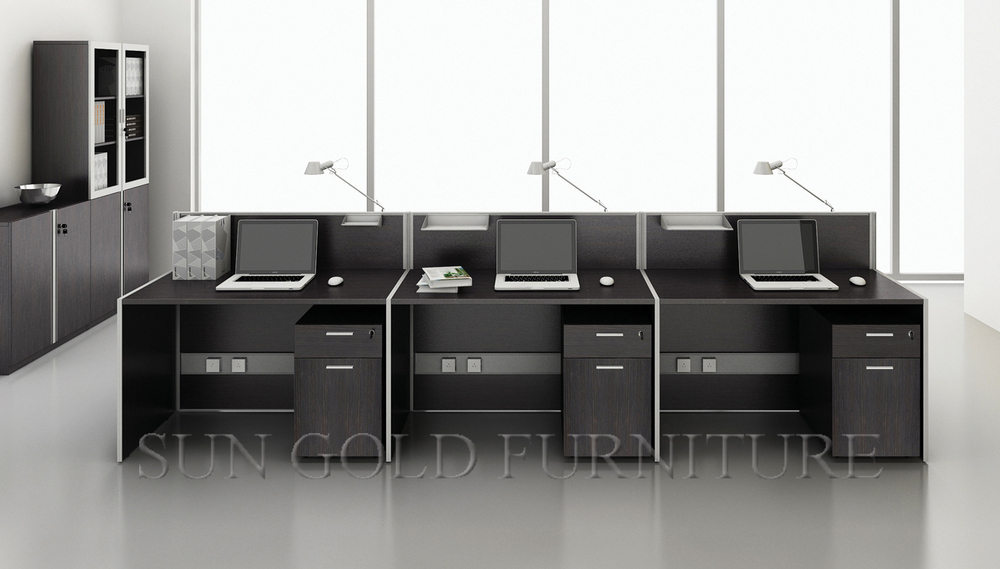 Long Shape Office Furniture Call Center Workstation For 6 Person Sz Ws801
