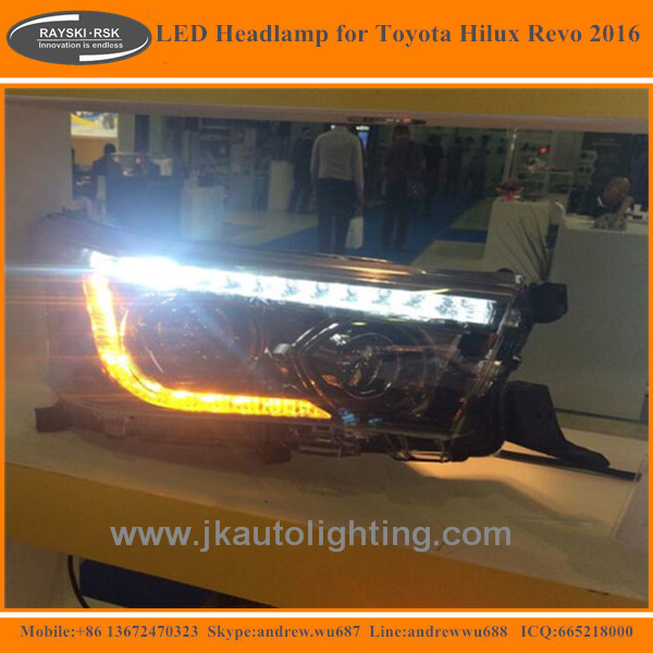 High Quality Super Bright LED Headlamp for Toyota Hilux Revo Best Selling LED Headlights for Toyota Hilux Revo 2015 2016