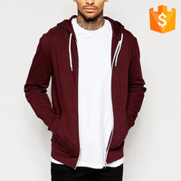 Clothing factory OEM wholesale plain zip up blank custom hoodies men