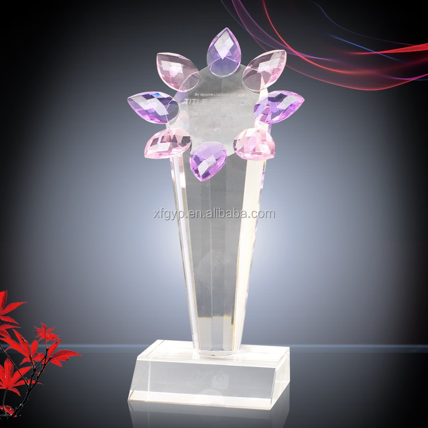 Customized Made Crystal Flower