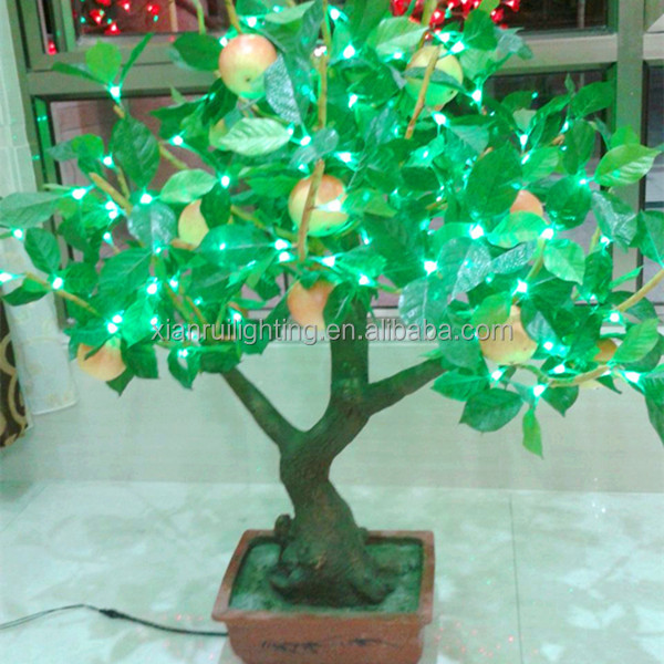led decor fruit tree light,apple bonsai tree light for home office hotel