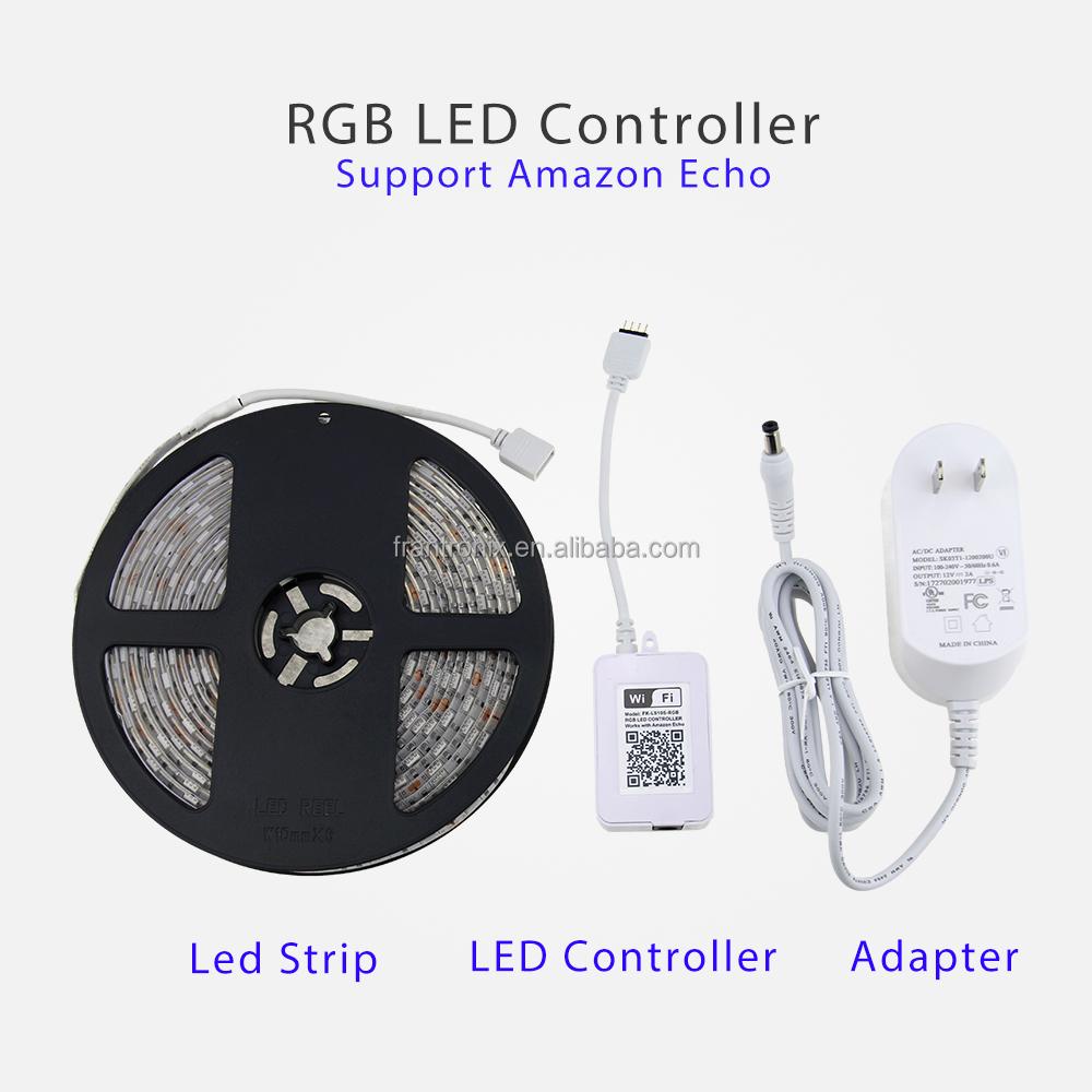 Wifi Rgb Led Strip Set Timer Control By Smartphone App Brightfun And With Controller China Amazon Alexa Google Home Buy Stripsmartphone Stripalexa