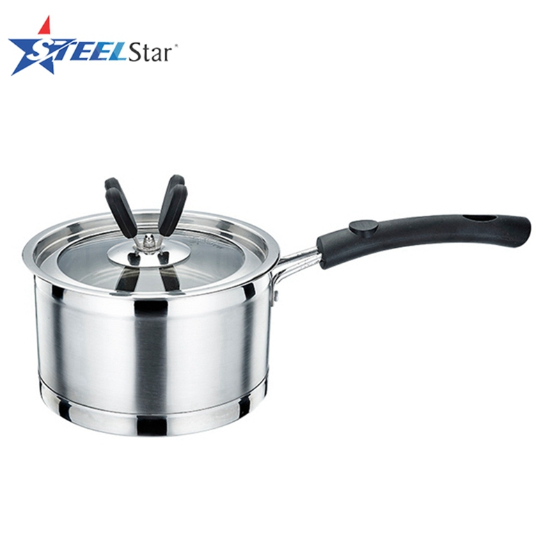 Composite Bottom 16cm stainless steel milk heating pots