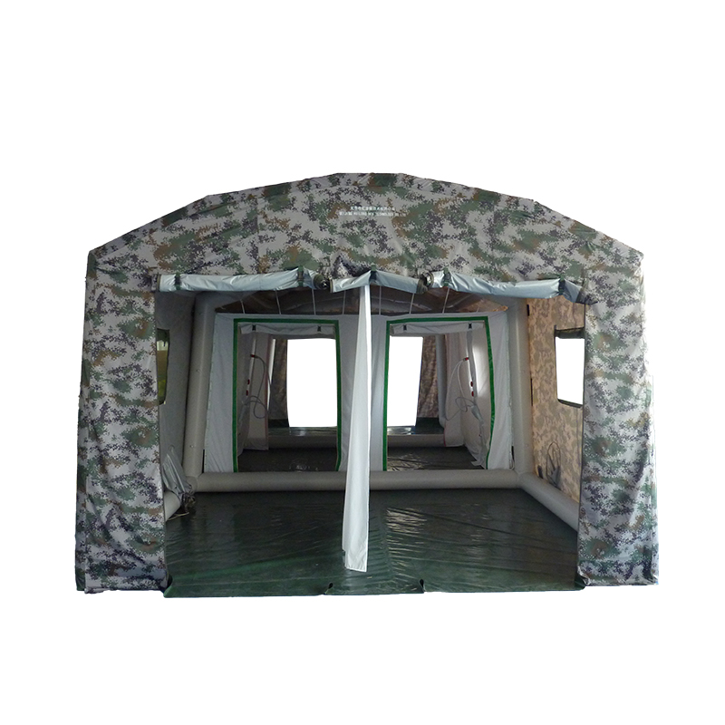5-6 person camouflage decontamination PVC military inflatable tent for outdoor