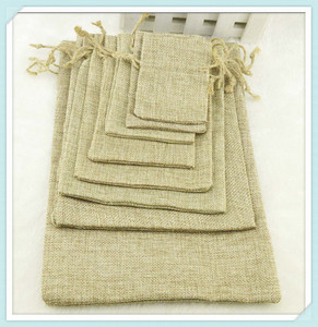 "13x18cm/5""x7"" Jute Burlap drawstring Favor Bags for candles handmade soap wedding Favor packaging DHL Free Shipping"