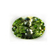 clear peridot shining oval shape cz synthetic stones