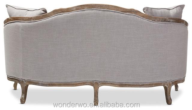 wohnzimmer m bel franz sisch landhausstil holz leinen sofa. Black Bedroom Furniture Sets. Home Design Ideas