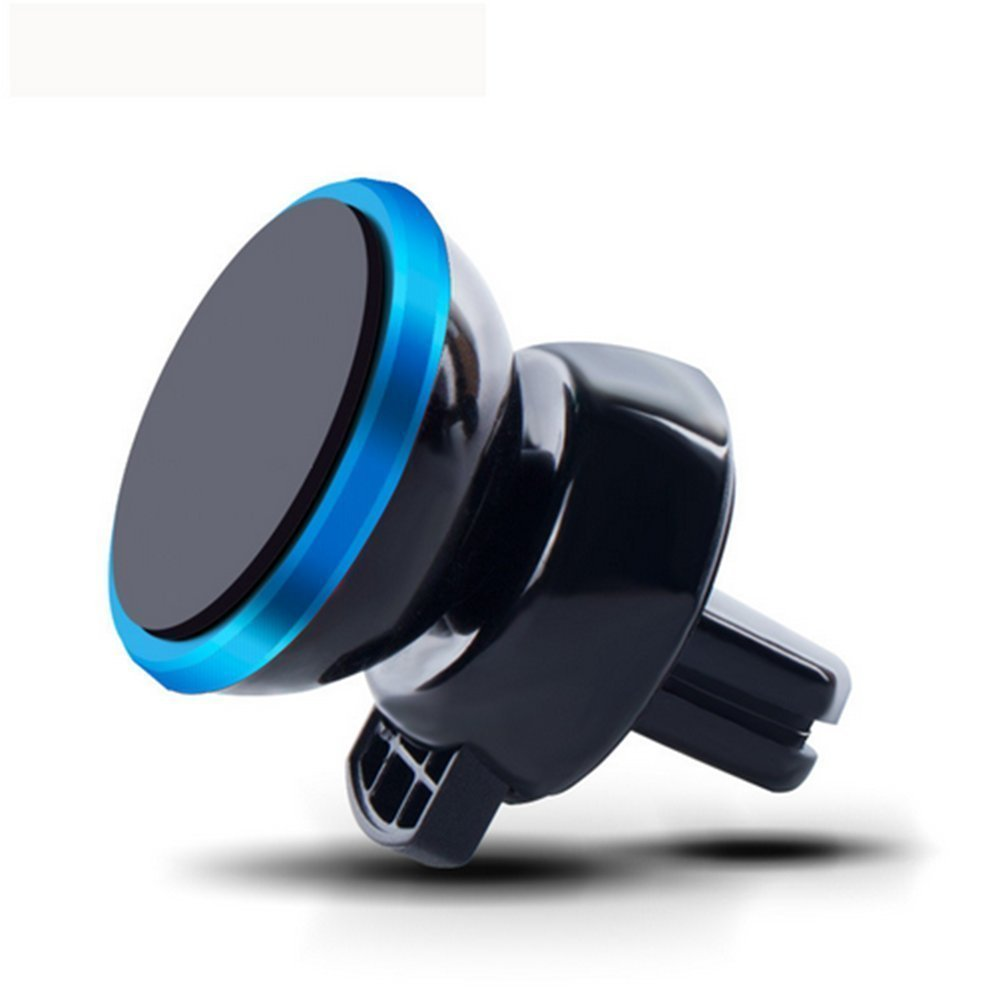 Car Mount,Cyber Roll Air Vent Magnetic Mobile Phone Car Vehicle Holder 360 Degree Rotation Vehicle-mounted Support Compatible with iPhone 6 6S Plus 5 Galaxy S7 S6 edge S5 SONY HTC LG (Blue)