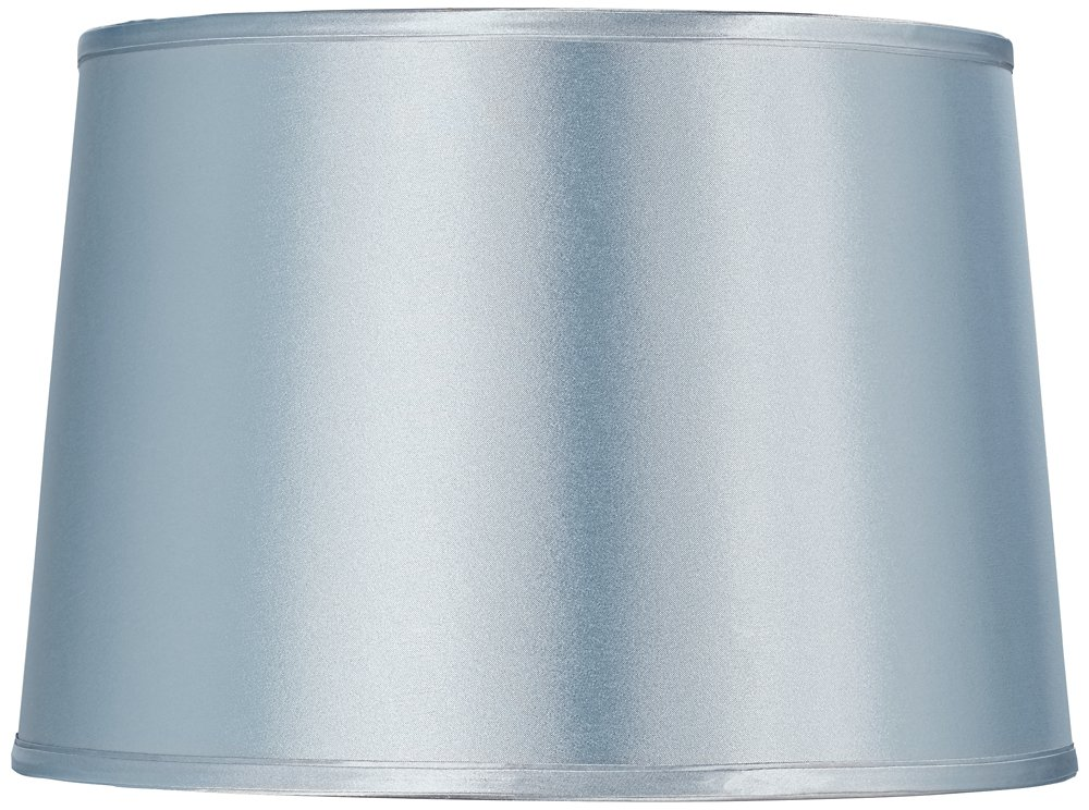 Cheap pale blue lamp shade find pale blue lamp shade deals on line sydnee pale blue satin drum lamp shade 14x16x11 spider aloadofball Choice Image