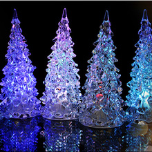 LED light crystal acrylic artificial christmas tree