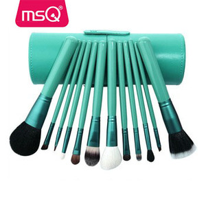MSQ 12pcs cylinder beauty needs makeup brush set costom logo the best makeup brushes
