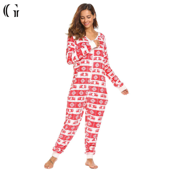 plus size adult christmas romper onesie pajamas