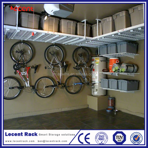 Easy Assemble Portable Metal Garage Ceiling Hanging Bike Rack