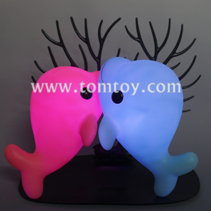 Kids Lovely Plastic LED Light Up Cute Dolphin Piggy Bank