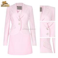 fashion elegant ladies office wear style design of long sleeve pink office ladies suits