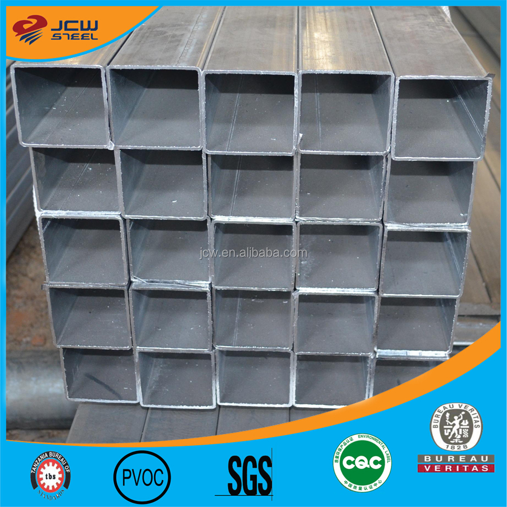 Hot dipped Galvanized Steel Pipe / Square Tube /Rectagular Hollow Section with gradeJIS SS400 SS490 professional manufacturer