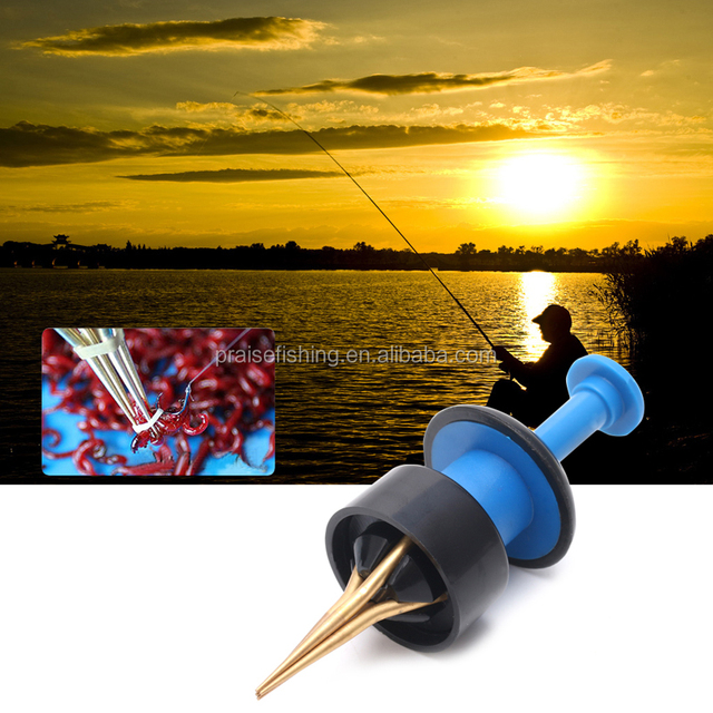 Red Worms Bait Bander Tool with Bands Coarse Pellet Fishing Terminal Tackles MC