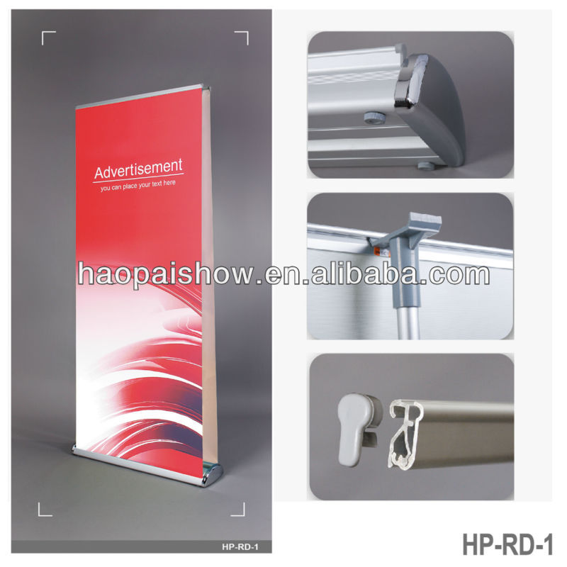 pull up roller banners,quality double sided roller banner stand supplied with padded carry bag,double sided roller banners