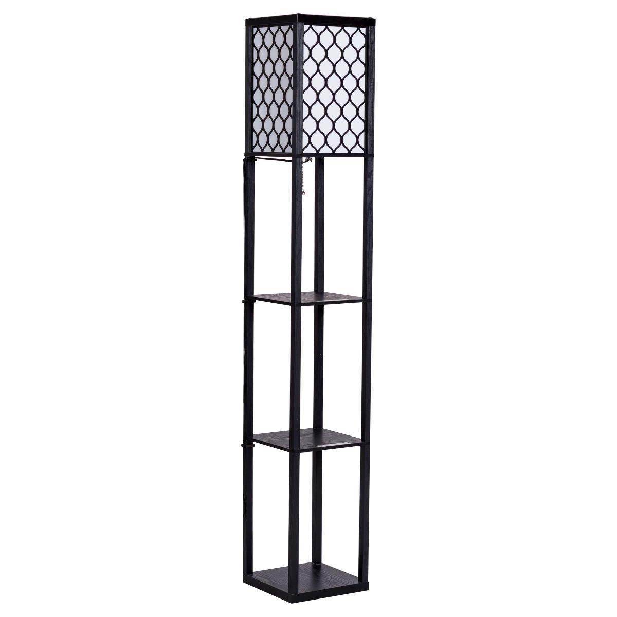 Get Quotations Cypress Shelf Floor Lamp Rack 3 Tiers Shelving Lighting Home Living Room Bedroom With